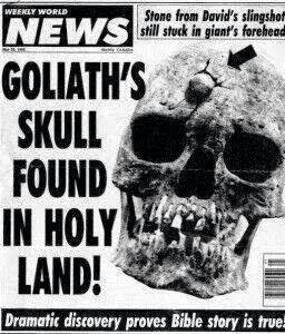 WOW!! The Skull Of Goliath Discovered By German Archeologist